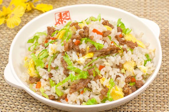 蔬菜牛肉炒饭